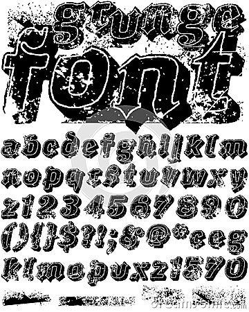 Grunge Schrifttyp