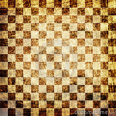 Grunge scratched chessboard