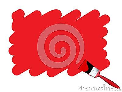 Grunge scribble paint brush ve