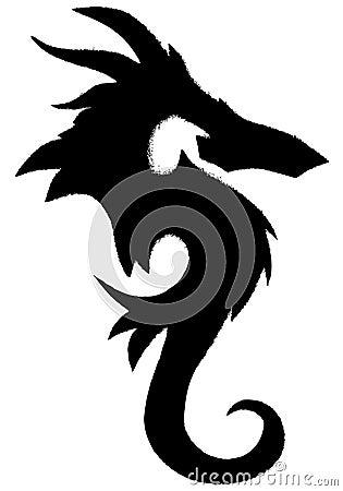 Grunge Sea Horse