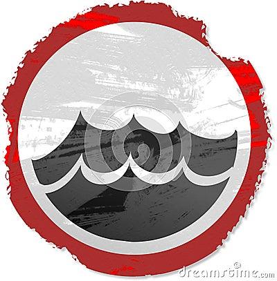 Grunge sea sign