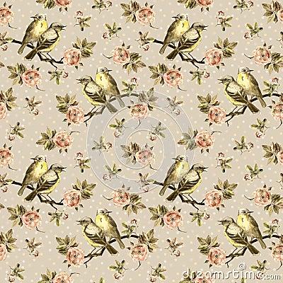 Free Grunge Seamless Backdrop With Retro Floral Design Stock Photos - 60086523