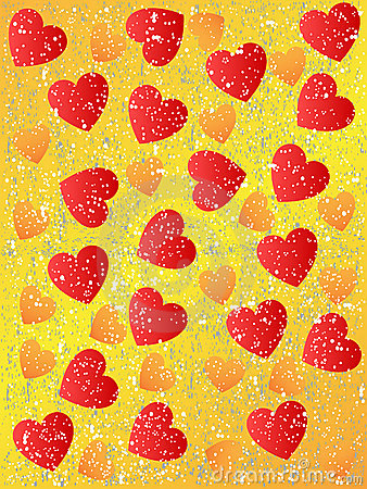 Grunge seamless heart background