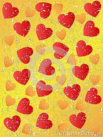 Grunge seamless heart background