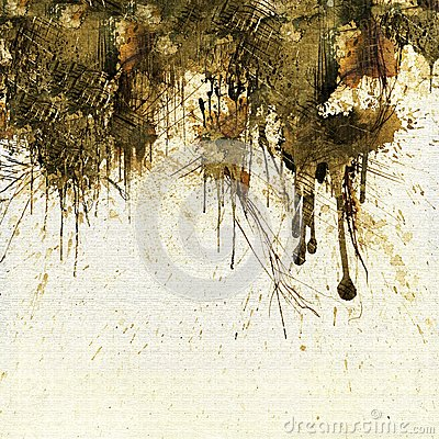 Grunge sepia dripping background