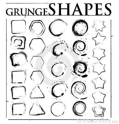 Free Grunge Shapes Stock Images - 8468794