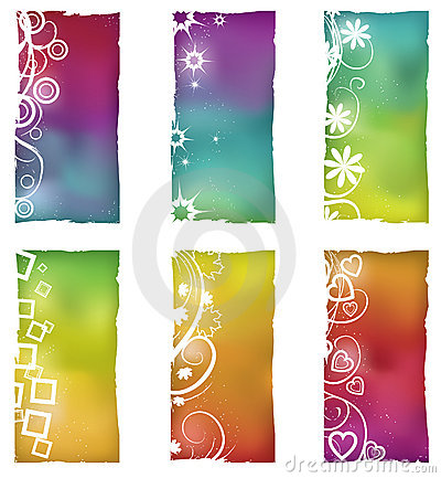 Free Grunge Shapes With Gradient Mesh Backgrounds Royalty Free Stock Photo - 11488845