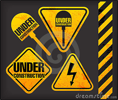 Grunge signs with the lighting and spade