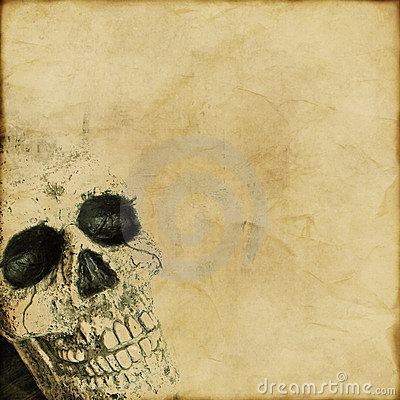 Grunge skull background
