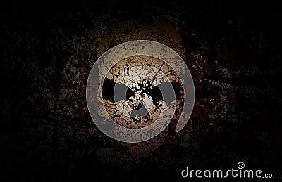 Grunge Skull Dark Background