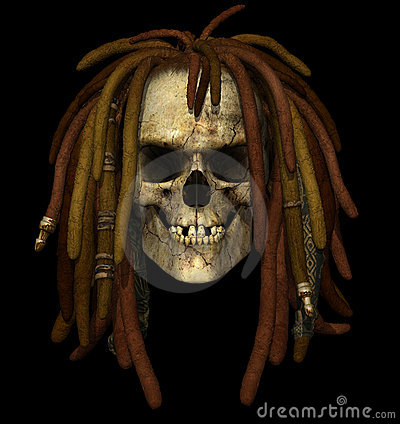 Grunge Skull with Dreadlocks
