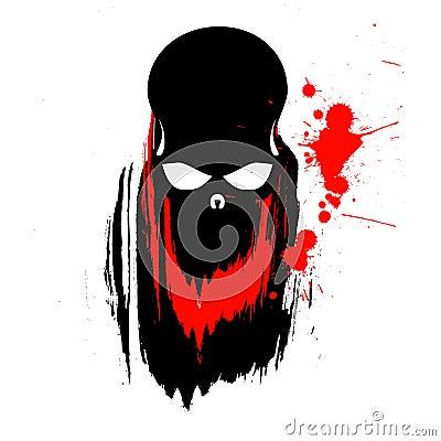 Grunge Skull Illustration