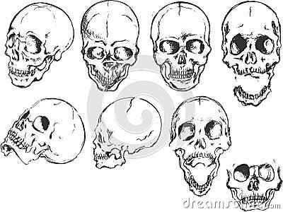 Grunge Skull Set