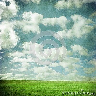 Grunge Sky and Field