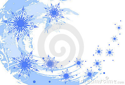Grunge snowflakes background