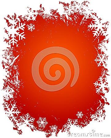 Free Grunge Snowflakes Frame Stock Photo - 1628590