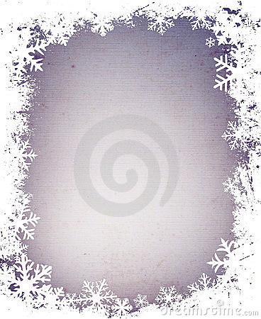 Free Grunge Snowflakes Frame Royalty Free Stock Photography - 1698047