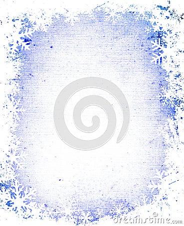 Free Grunge Snowflakes Frame Royalty Free Stock Images - 1698049