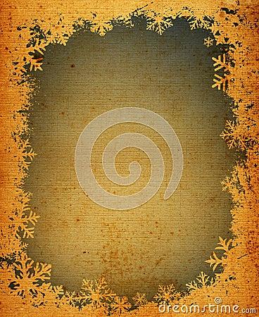Free Grunge Snowflakes Frame Stock Image - 1810361