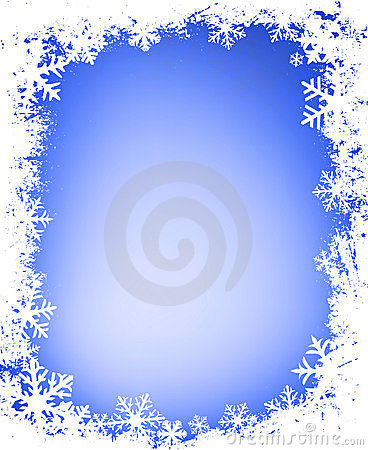 Free Grunge Snowflakes Frame Royalty Free Stock Image - 1817456