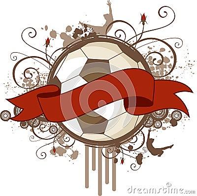 Free Grunge Soccer Banner Royalty Free Stock Photo - 7607175