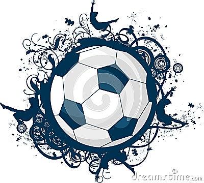 Grunge Soccer Icon