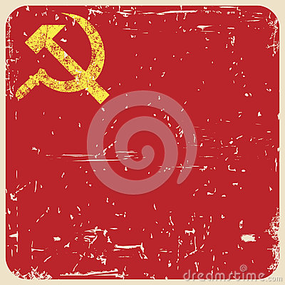 Free Grunge Soviet Background With Hammer And Sickle, Royalty Free Stock Photo - 42291575