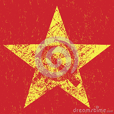 Free Grunge Soviet Star With Hammer And Sickle, Stock Photos - 42291583