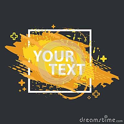 Free Grunge Splash Banner. Vector Splatter Labels With Space For Text. Grunge Label. Stock Image - 102394261
