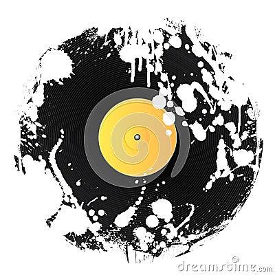 Grunge splat vinyl