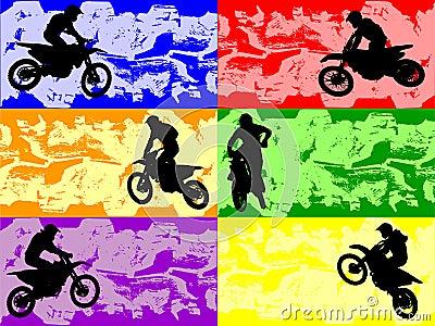 Grunge sport banners