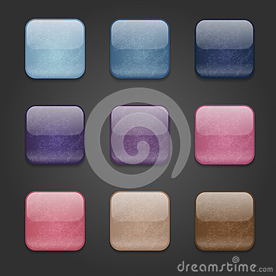 Grunge square buttons