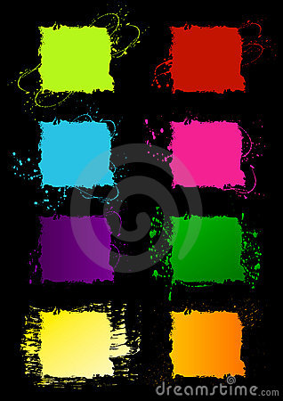 Grunge square frames