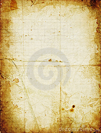 Free Grunge Squared Paper With Dark Stained Frame Royalty Free Stock Photos - 6247088