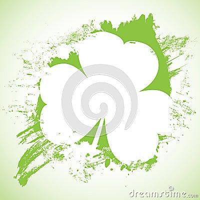 Grunge St. Patrick Day background,