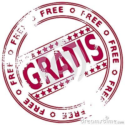Grunge stamp FREE - Spanish