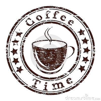Free Grunge Stamp With A Cup Stock Photo - 23051200