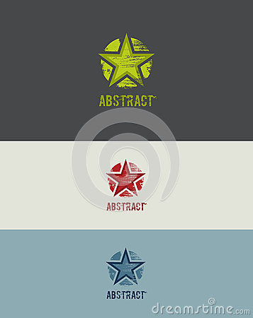 Grunge Star Design Element