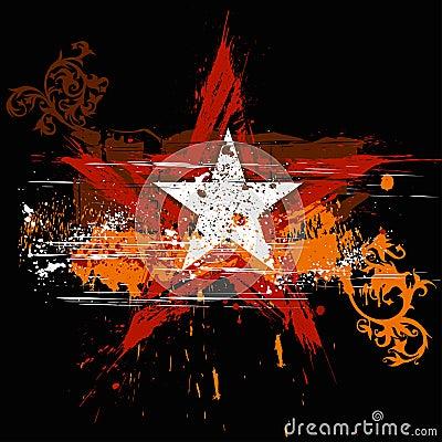 Free Grunge Star , Flowers Ornament Stock Photos - 2687933