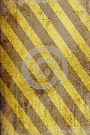 Grunge striped danger banner background