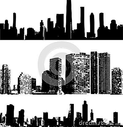 Grunge style buildings