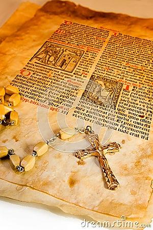 Free Grunge Style Catholic Symbols Stock Images - 4411864