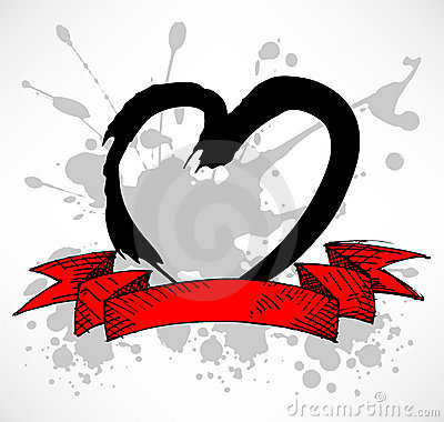 Grunge Style Heart splatter