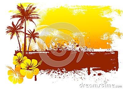 Grunge summer background