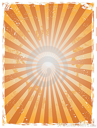 Grunge sunray background