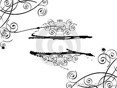 Grunge swirl banner