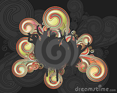 Grunge Swirl Fans