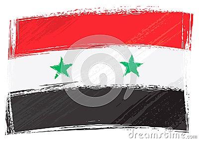 Grunge Syria flag