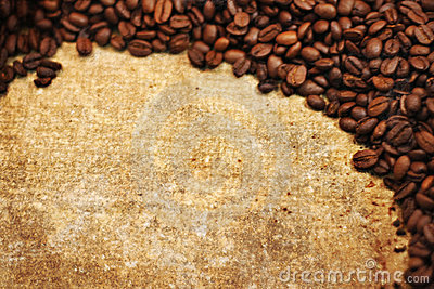 Grunge texture of coffee beans