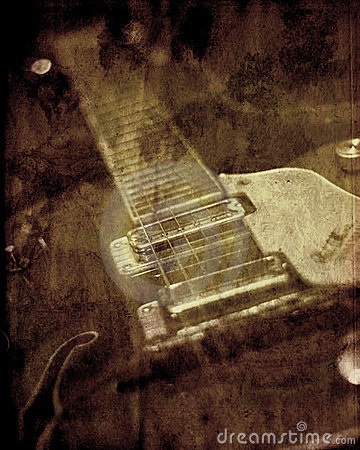 Grunge Texture Guitar Background